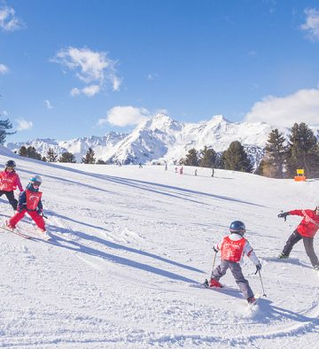Il bambino e lo sci
